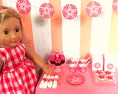 American Girl Birthday Party Supplies for 18 Inch Doll, Star Themed: Plates, Cups, Napkins, Banner, Favors, Cookies and Cupcakes