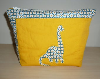 Personalized toilet bag from organic cotton