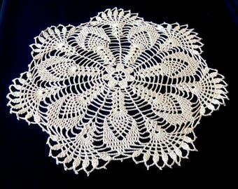 New beige crochet doily