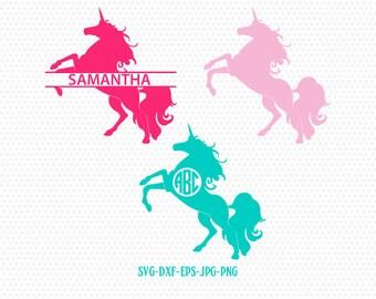 Unicorn Monogram Svg Etsy