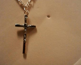 Handmade Cross/Crucifix Silver Toned Necklace