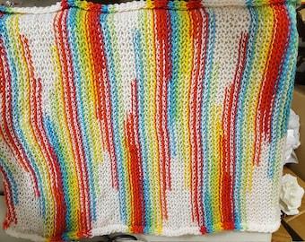 Handmade multi-colored baby wrap