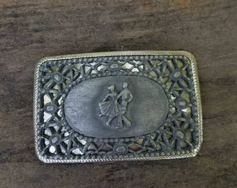 Double layered square dancing belt vintage  buckle dancers * FREE SHIPPING*