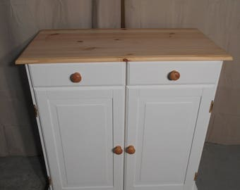 Shabby Chic Solid Pine Sideboard In Rustoleum Chalk White (#784)