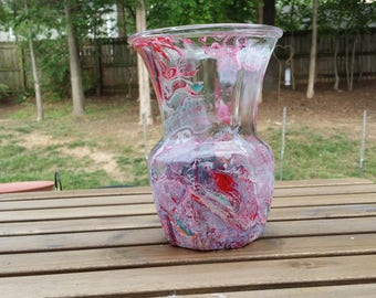 Hand dipped Painted Vase