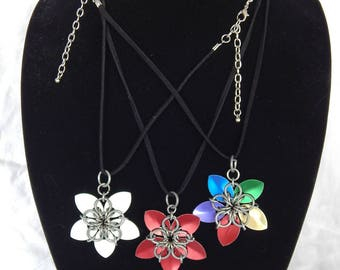 Dragon Scale Flower Necklace