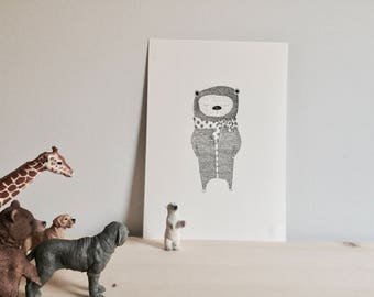 baby nursery/animal illustration/baby room art/nursery decor/baby animal prints/kids room