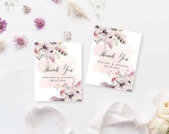 Printable Gift Tags | Customised Favour Tags | Wedding Thank You Tags | DIY Printable Gift Tags | Dreamwood