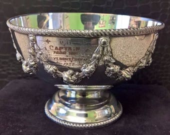 1923 Belvedere Company,presented to Captain - Silver Plated Dish.