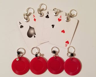 Game Night Stitch Markers: 4 of a Kind