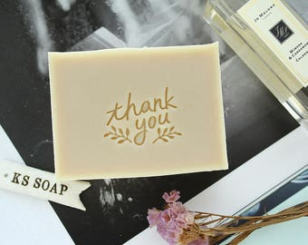 Thank you Acrylic Glass Soap Stamp