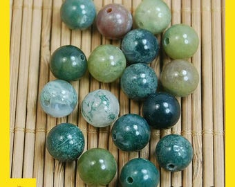 Natural beads-Genuine Stone Gemstone Round Spacer Loose Beads Wholesale 4,6,8,10,12mm-indian