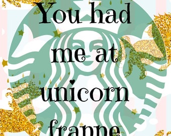 Starbucks unicorns, printables, coffee