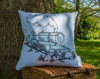 Dreaming Away Steam Train Cushion Cover