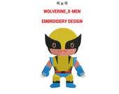 Wolverine X-Men Embroidery Design | Machine Embroidery Design | X-Men Full Filled Embroidery Designs | Marvel Comics Embroidery Designs
