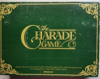 Vintage The Charade Game by Pressman 1985 #3500