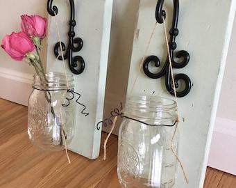 Hanging Mason Jar Vases