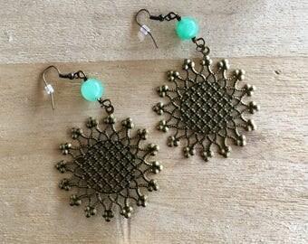 Aventurine Sunburst Earrings