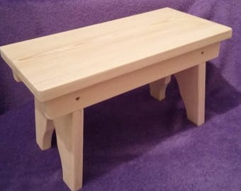 Handcrafted Grandpa Style Children's Wooden Stool  - Red Deal Pine