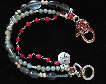 Genuine Ruby & Amethyst Bracelet