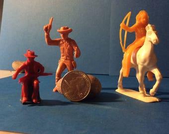 Sale 1950's wild Wild West figures