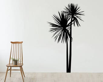 New Zealand Cabbage Tree Wall Decal