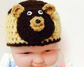 Brown newborn Bear hat