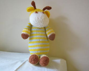 Hand Knitted Giraffe / Cuddly toy