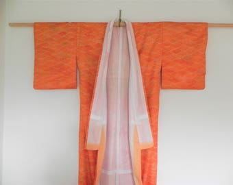 Beautiful Original Vintage Kimono from Japan - Orange