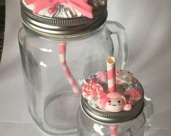 Mason jar set - hand decorated