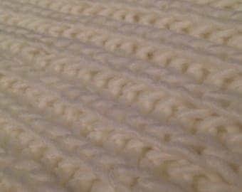 White Knitted Blanket