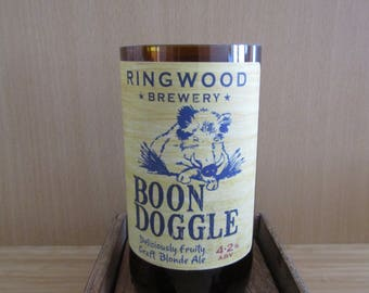 Boon Doggle Beer Bottle Soy Wax Candle Filled to Order