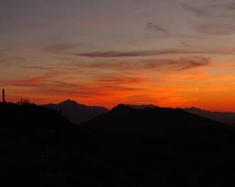 Arizona Sunset Framed Photo