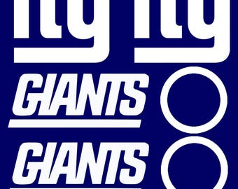 6pc New York Giants Cornhole Decal sets LARGE Bean Bag Toss Baggo Stickers