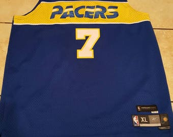 Reebok Jermaine O'Neal Indiana Pacers throwback jersey -- size XL STITCHED