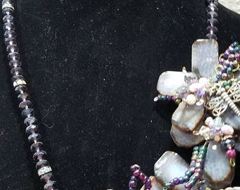 Amethyst and Austrian Crystal Necklace