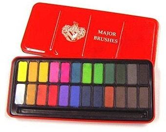Watercolour Block Tin Set of 24 Colours