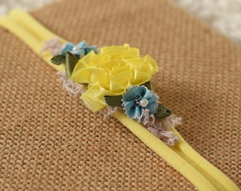 yellow stretch newborn headband prop