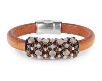 Bracelet Kit Blue Nile Honeycomb with Swarovski® Crystals – Chalk Blue