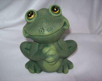 Cute Frog Home Decor Yard Art Ceramic Frog