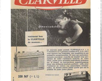 Advertising vintage 50s Clarville Radio really good Clarville of MOM
