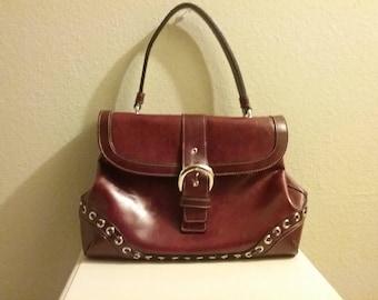 Vintage rina rich cranberry purse