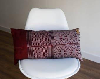 60 x 30 cm cotton vintage fabric cushion