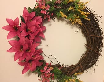 Rustic Grapevine Spring Wreath