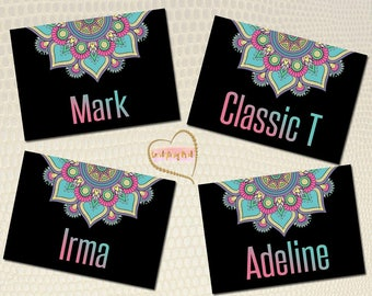 Mandala Clothing Name Cards, Marketing Kit, Home Office Approved, Style  Clothing Card 5x7, Name Tags PRINTABLE, INSTANT D