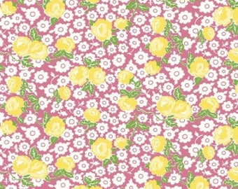 Dainty Darling Cotton Fabric  - Pink C5850 - Riley Blake Fabric- Perfect for Girls Clothing, Nursery, Quilts