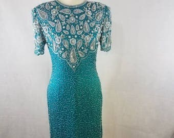 Laurence Kazar sequin vintage dress