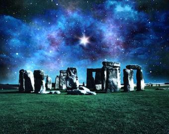 Starry Night at Stonehenge