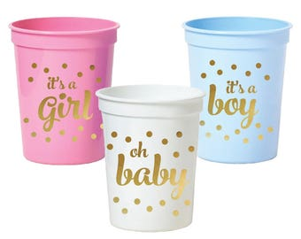 Custom Cups Set of 25, Personalized Party Cups, Wedding Cups, Baby Shower Cups, Birthday Party Cups, Bachelorette Cups, Cup Party Favors,Cup