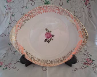 Vintage 1960s Cake Plate Lord Nelson Pottery Gateaux Plate/Bread and Butter Plate/Sandwich Plate Bone China